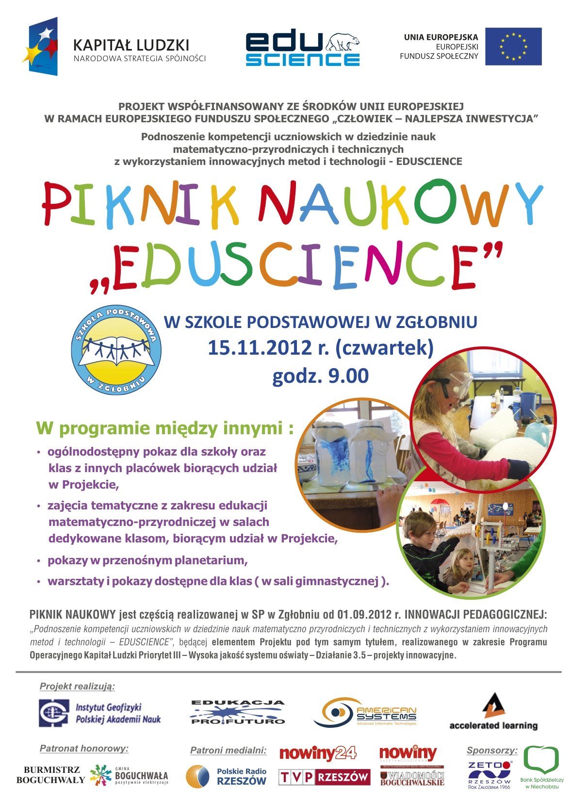 "Piknik naukowo-edukacyjny ""EDUSCIENCE"""