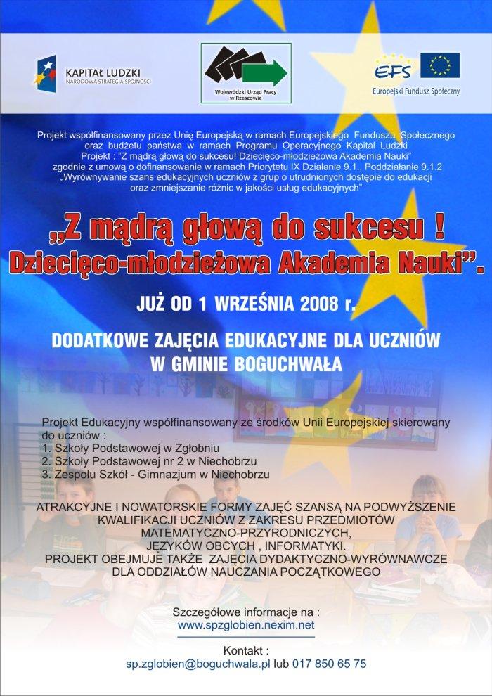 Projekt edukacyjny finansowany ze środków Unii Europejskiej
