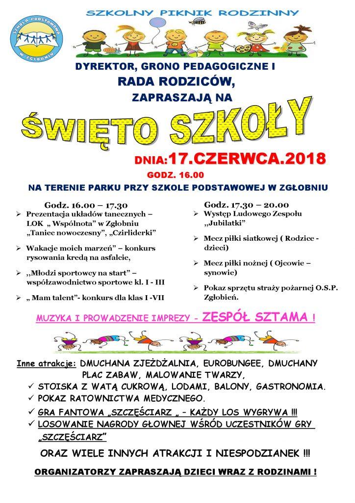 Szkolny Piknik Rodzinny 2018!