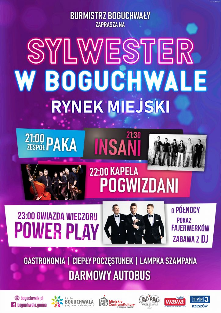 plakat Sylwester 2018