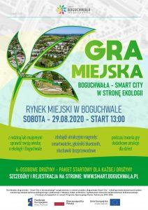 """Gmina Boguchwała zaprasza do wzięcia udziału w Grze Miejskiej """"Boguchwała – Smart City w stronę ekologii""""."""