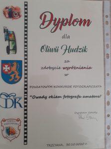Gratulacje dla Oliwii!!